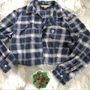Brooks brother | navy plaid flannel • 8